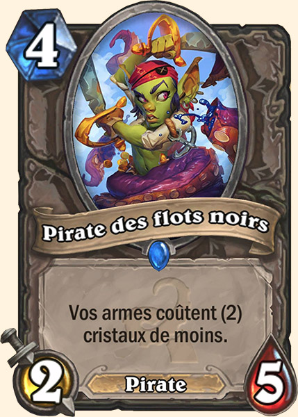 Pirate des flots noirs carte Hearthstone