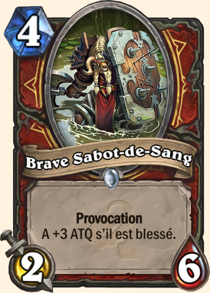 Brave Sabot-de-sang carte Hearthstone
