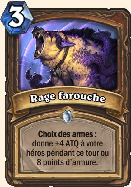 Rage farouche carte Hearthstone
