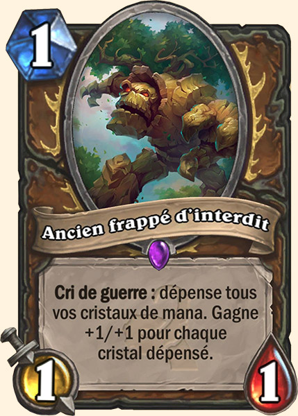 Ancien frappé d'interdit carte Hearthstone