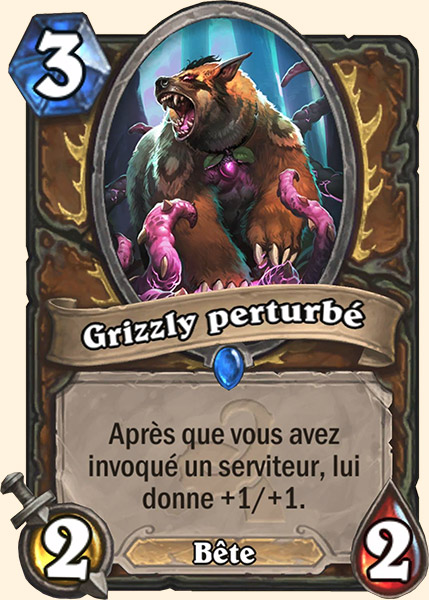 Grizzly perturbé carte Hearthstone