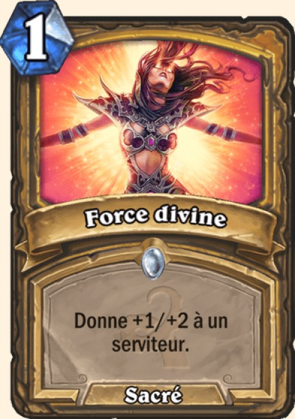 Force divine carte Hearthstone