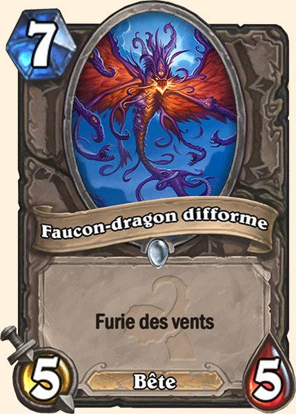 Faucon-dragon difforme carte Hearthstone