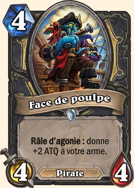Face de poulpe carte Hearthstone