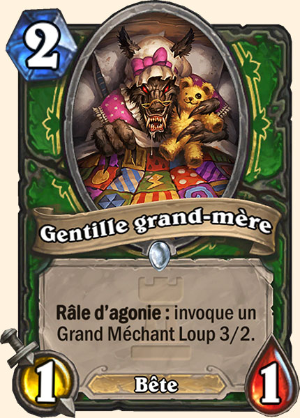 Gentille grand-mère carte Hearthstone