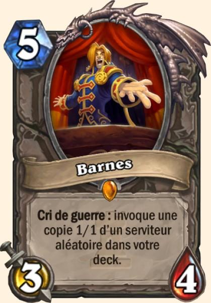 Barnes carte Hearthstone