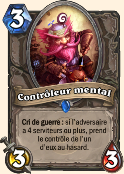 Contrôleur mental - Carte Hearthstone