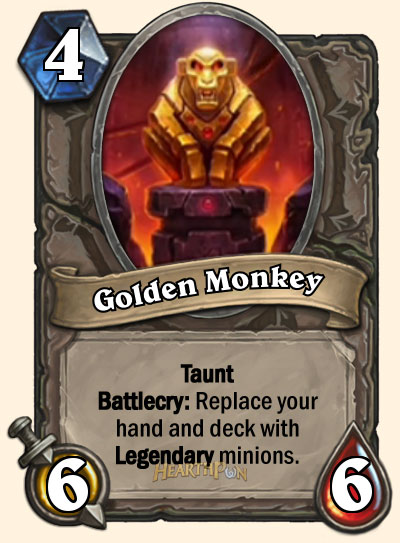 Golden Mokey carte Hearthstone