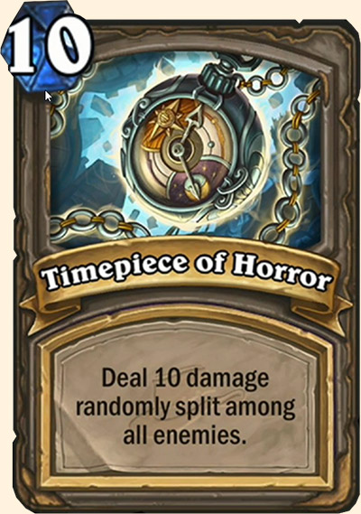 Timepiece of Horror carte Hearthstone