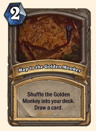 Map of the Golden Mokey carte Hearthstone