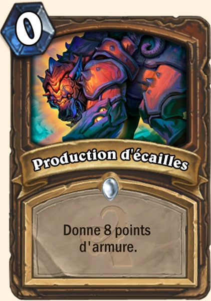 Production d'écailles carte Hearthstone