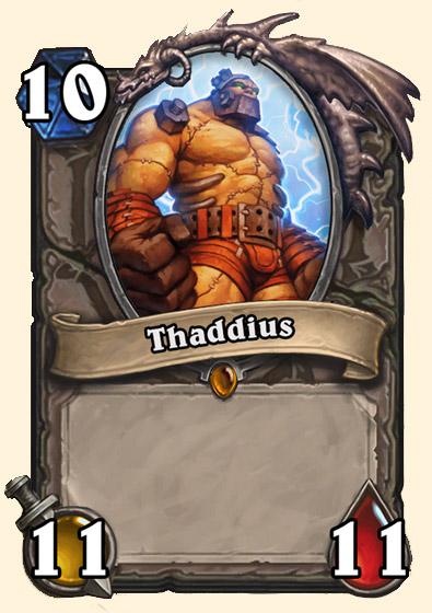 Thadius - Carte Naxxramas Hearthstone