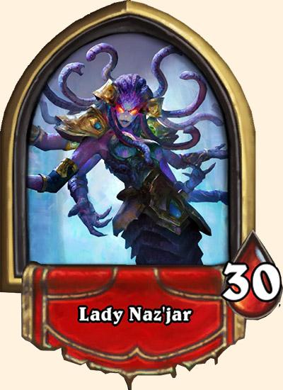 Portrait Dame Naz'jar Hearthstone