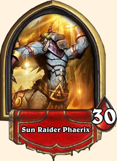 Portrait Écumeur du soleil Phaerix Hearthstone