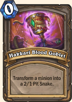 Hakkari Blood Goblet Hearthstone