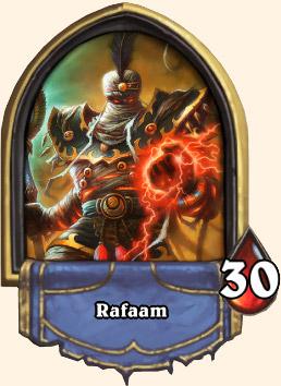 Portrait Rafaam déchaîné Hearthstone