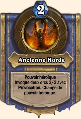 Ancienne Horde - Pouvoir Mont Rochenoire Hearthstone Rend Main-noire