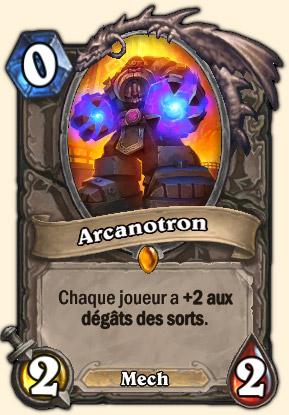 Arcanotron Carte Hearthstone Système de défense Omnitron