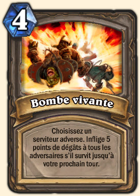 Bombe vivante Carte Hearthstone Geddon