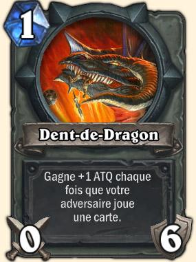 Dent de dragon Carte Hearthstone Atramédès
