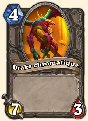 Drake chromatique Carte Hearthstone Tranchetripe l'Indompté