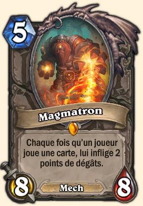 Magmatron Carte Hearthstone Système de défense Omnitron
