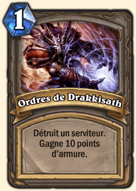 Ordre de Drakkisath Carte Hearthstone Général Drakkisath