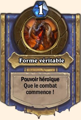 Forme véritable - Pouvoir Mont Rochenoire Hearthstone Seigneur Victor Nefarius