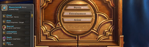 Hearthstone : nouvelle interface