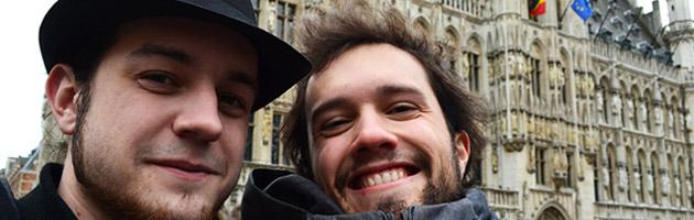 Mamytwink et Zecharia à Bruxelles