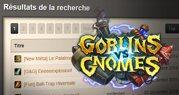 mise a jour de la base de donnees hearthstone-decks et section gobelins et gnomes