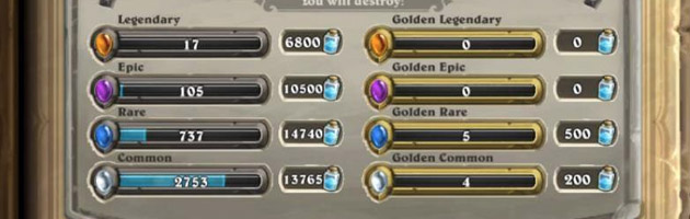 840 paquets Hearthstone