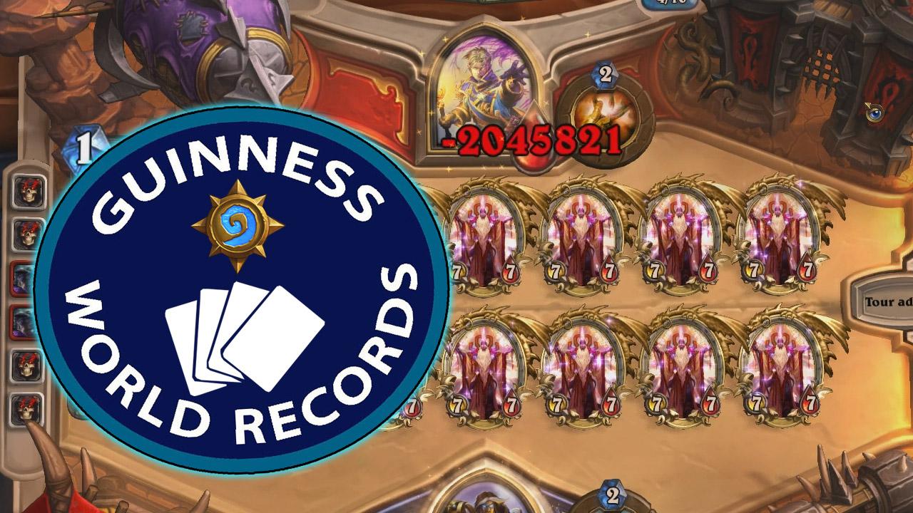 2 millions de degats avec un sort - record hearthstone