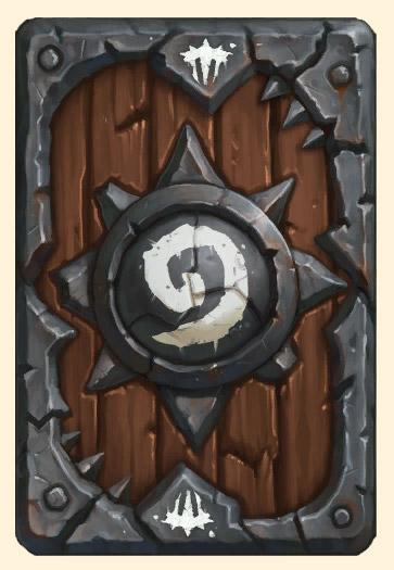 Ancien dos de carte Warlords