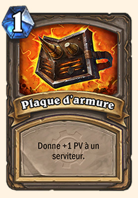 Plaque d'armure carte Hearthstone