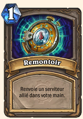 Remontoir carte Hearthstone