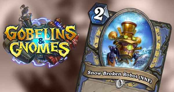 carte mage gobelins et gnomes : snow broken bot