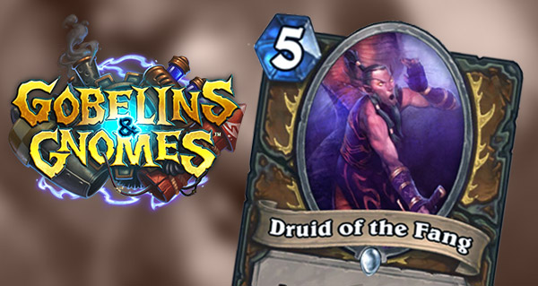 carte druide gobelins et gnomes : druid of the fang
