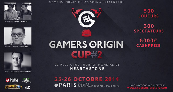 tournoi gamersorigin cup #2 les 25 et 26 octobre a paris