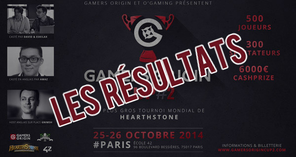 tournoi gamersorigin cup #2 : les resultats