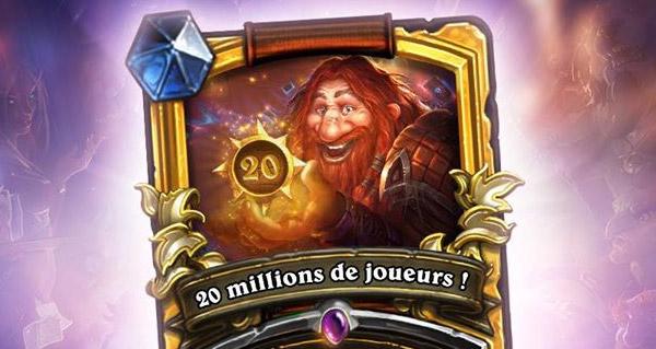 hearthstone : 20 millions de joueurs pour le jeu de cartes !
