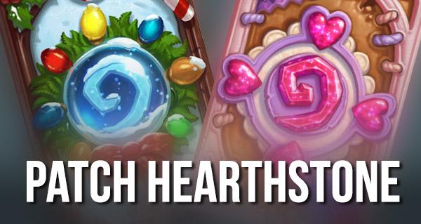 patch hearthstone : dos de carte, bras de fer, evenements saisonniers