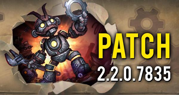 patch 2.2.0.7835 en ligne !