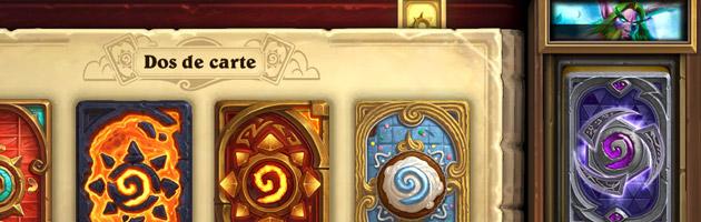 Vous pouvez assigner un héros ou un dos de carte à un deck