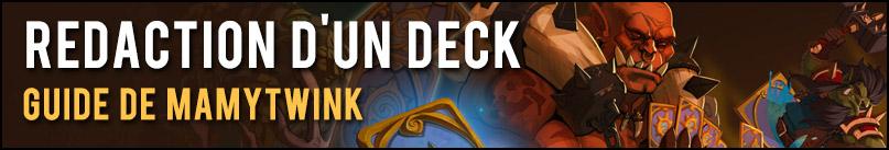 Guide rédaction deck Hearthstone