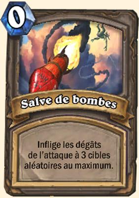 Salve de bombes carte Hearthstone Mécazod