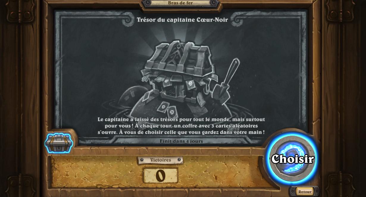 Bras de fer hebdomadaire : Le trésor du capitaine Coeur-Noir