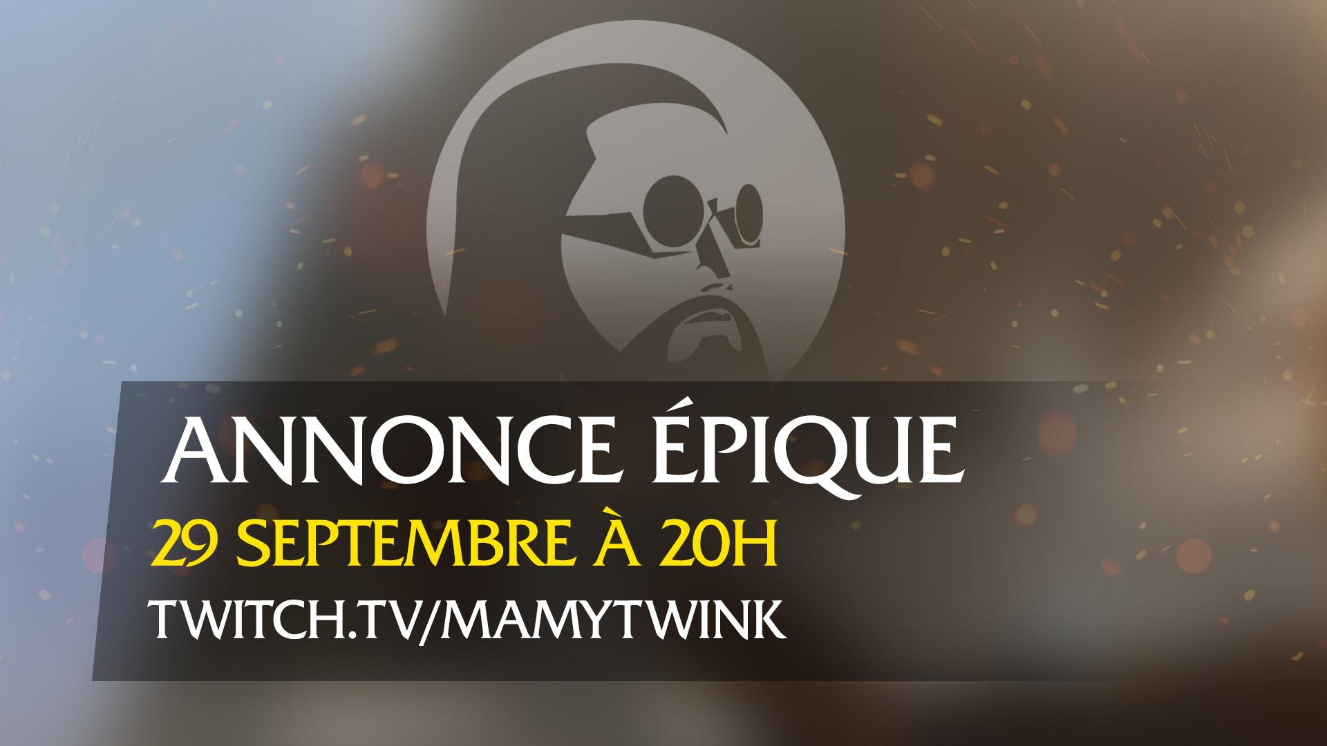Retrouvez-nous le mardi 29 septembre à 20h pour suivre l'annonce en direct !