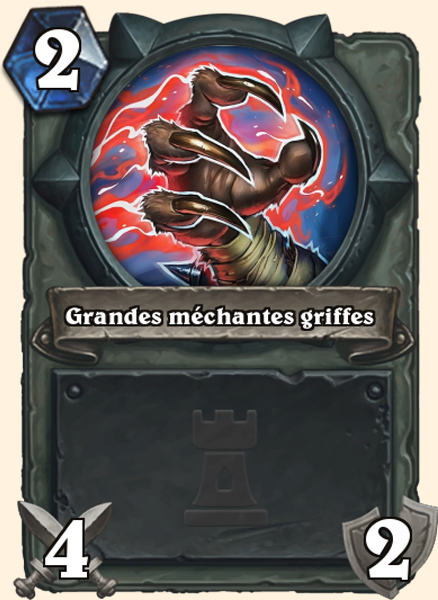 Carte Hearthstone - Grandes méchantes griffes - Grand Méchant Loup