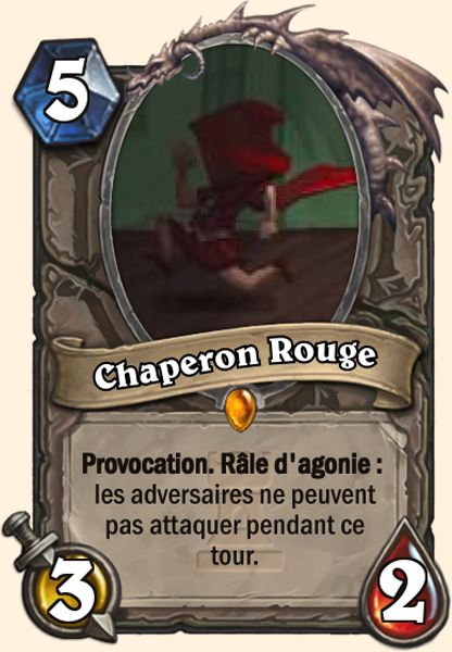 Carte Hearthstone - Chaperon Rouge - Grand Méchant Loup